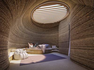 Mario Cucinella designs a giant 3D printed wasp's nest of a house