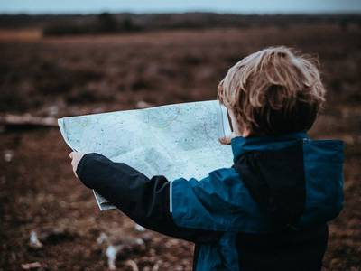 Teach your child how to read a paper map
